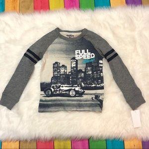 Oshkosh NWT Size 4 long sleeved shirt race car
